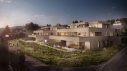 AGMENTO Immobilien-Atmospheric 3D-Architectural Visualisation-Exterior-Sunset-morph