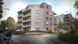 rychener partner-Mehrfamilienhaus-Projektwettbewerb-Architektur-Visualisierung-Ausserdorfstrasse-Zürich