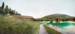 Wettbewerb-Restaurant-Caumasee-Flims-Giubbini-Architekten-morph-3D-Visualisierung