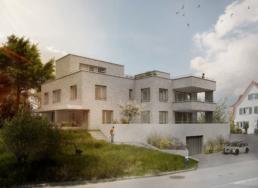Rychener-Partner_Mehrfamilienhaus-Tiergartenstrasse-10,-Kilchberg-ZH-Visualisierung
