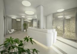 Proplaning-Architektur-Psychiatrie-Baselland-Zentraler Empfang -morph-3D-Visualisierung