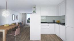 Mehrfamilienhaus-Schüracherstrasse-Brüttisellen-Architektur-3D-Spezialist-Minimalistische-Küche