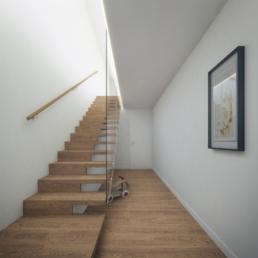 Mehrfamilienhaus-Schüracherstrasse-Brüttisellen-Architektur-3D-Spezialist-Holztreppe